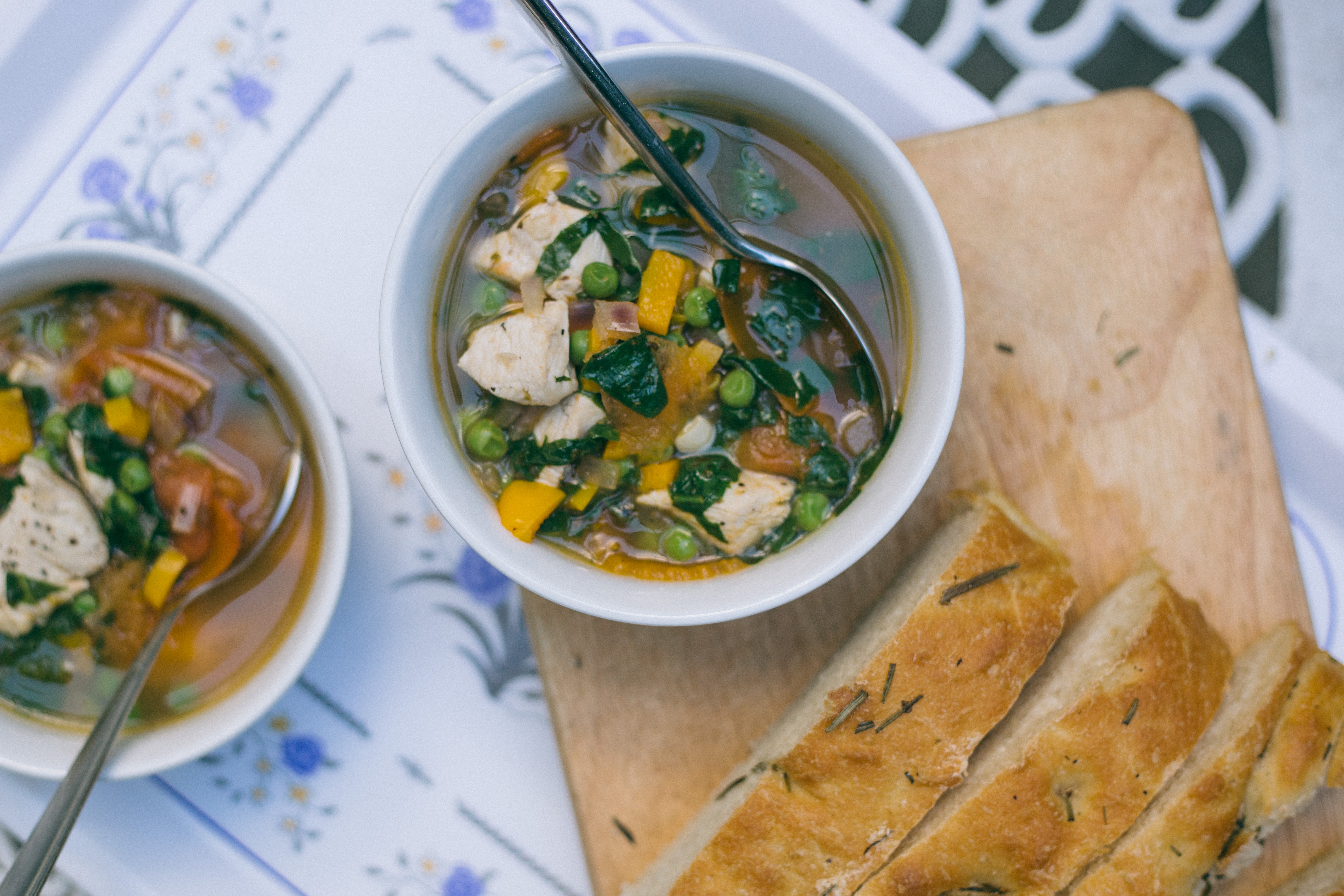 {summer chicken soup} via chevrons & éclairs