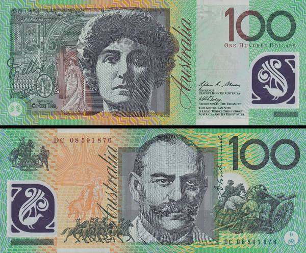 100 Dolárov Austrália 2008, polymer, P61a