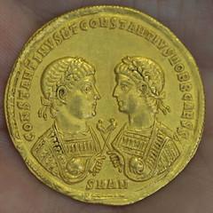Addr exhibit Roman Gold coin