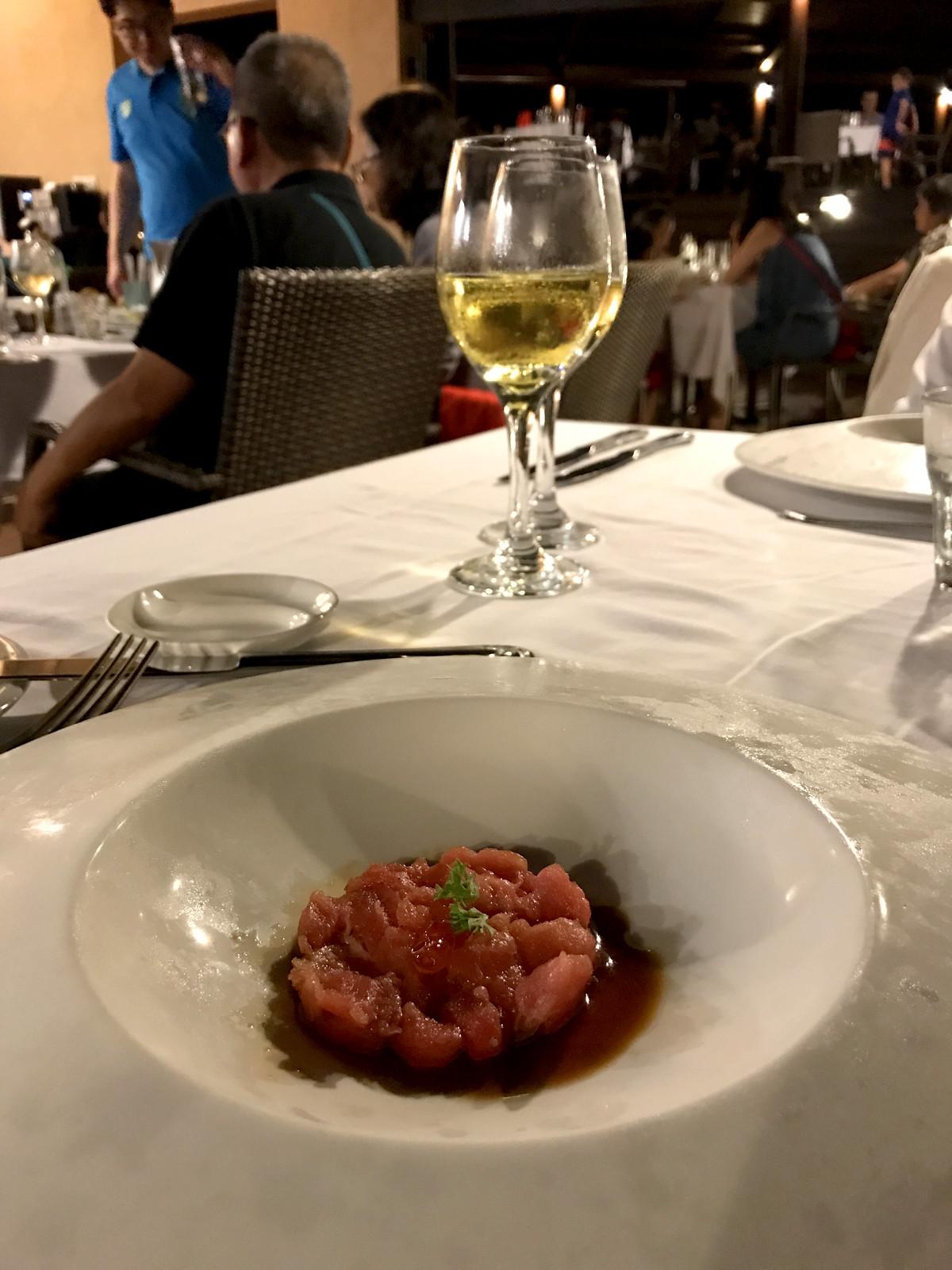 Tuna tartare at La Terrasse