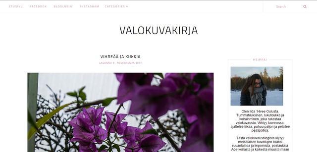 valokuvakirja -blogi