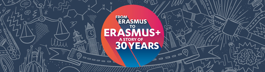 From Erasmus to Erasmus + a story of 30 years logo