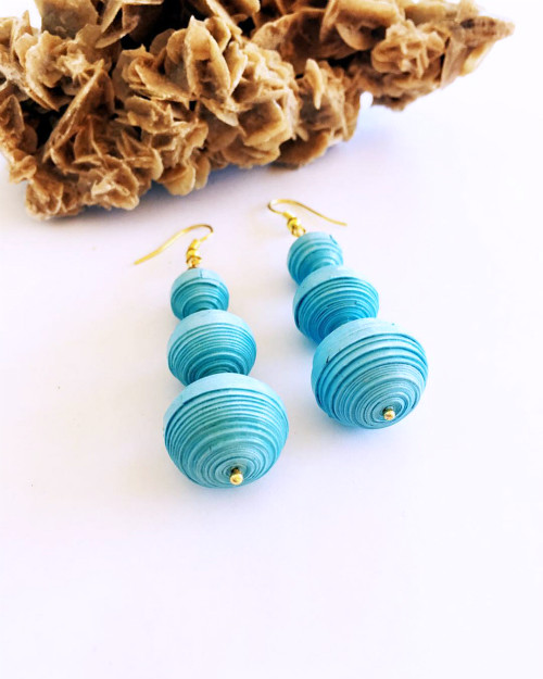 Quilled Paper Earrings by Quilly Paper Design