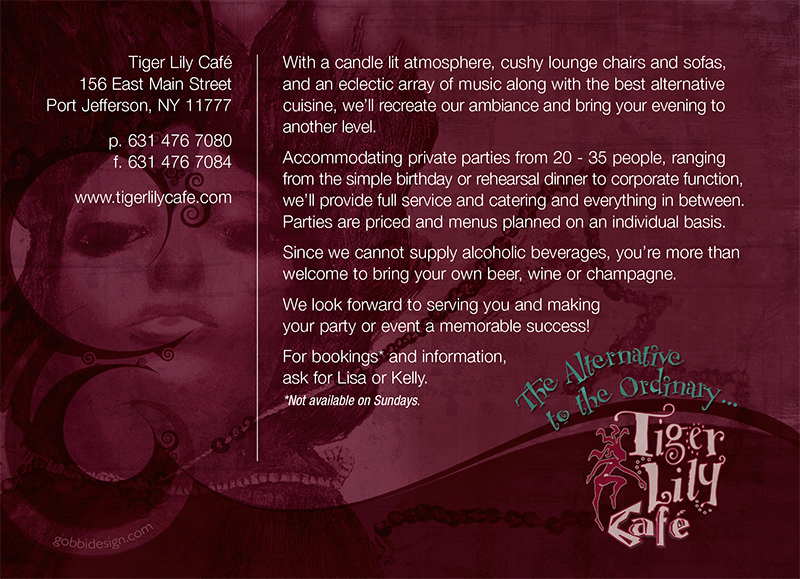 Tiger Lily Cafe Postcard