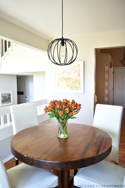 Kitchen Table and Light | Welcome to Heardmont