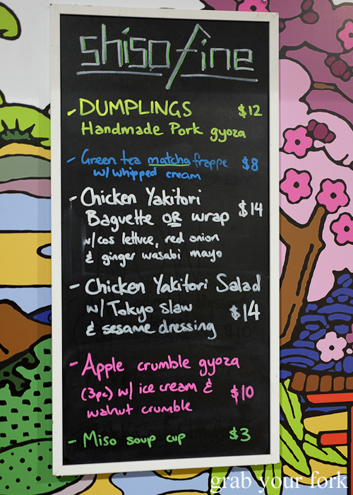 Shiso Fine food truck menu at Paddy's Night Food Markets