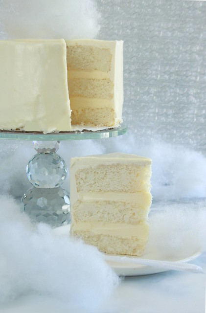 White Mountain Wedding Cake