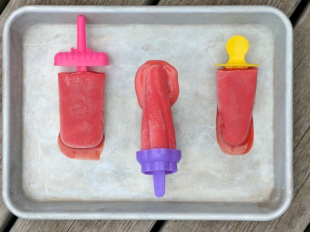 Three Strawberry Ice Pop Flavours