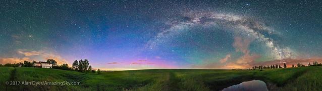 Solstice Skyglow Panorama