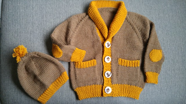 Fo: Gramps Cardigan and Matching Hat