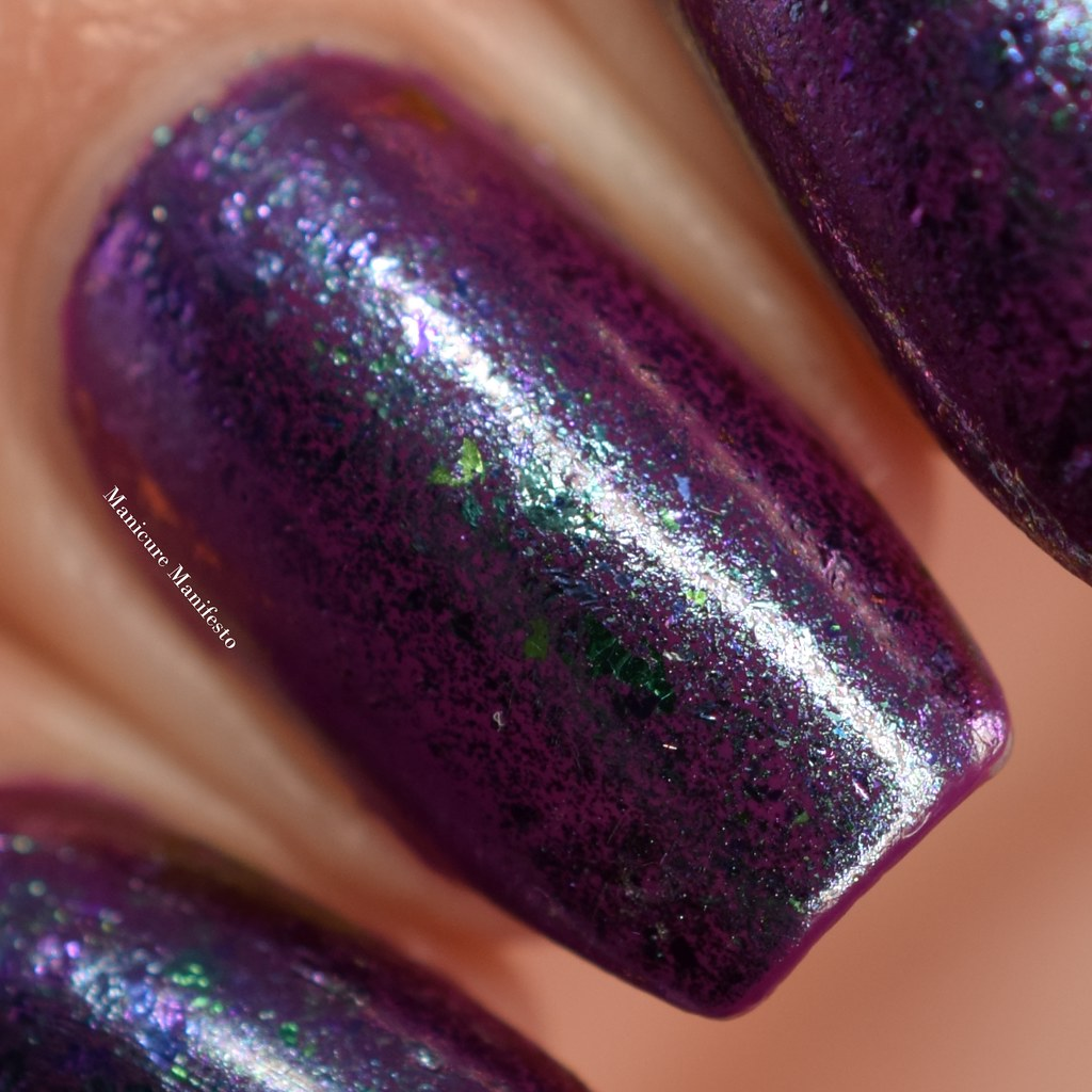 Born Pretty gel flake chameleon swatch