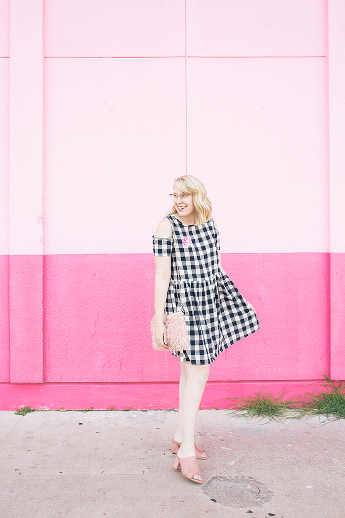 austin fashion blogger writes like a girl gingham dress pink mules11