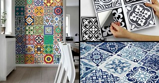 Trends diy decor ideas le carrelage adh sif carreaux de - Carrelage adhesif mural pas cher ...