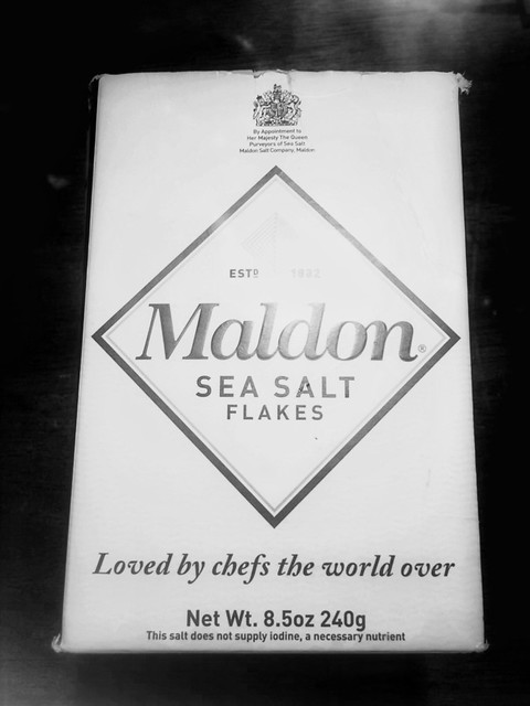 Maldon sea salt, used in Georgia O'Keeffe's chive blossom salt. From Georgia O'Keeffe, Artist and the Original Foodie
