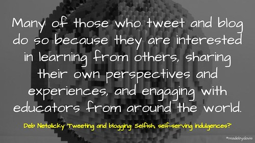 Tweeting and blogging: Selfish, self-serving indulgences? | by mrkrndvs