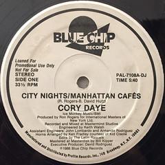 CORY DAYE:CITY NIGHTS:MANHATTAN CAFES(LABEL SIDE-A)