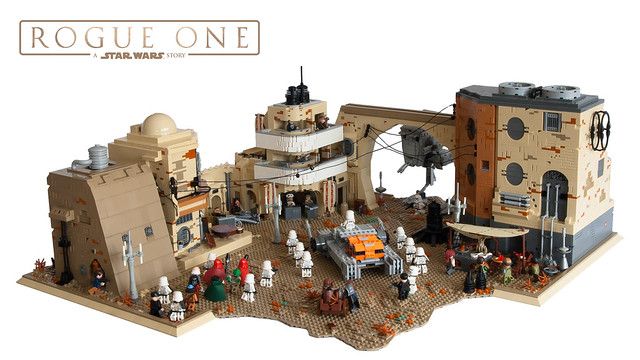 Jedha - Ambush on Tythoni Square, by Boba1980, on Eurobricks