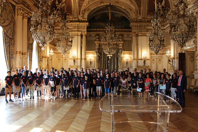 Remise de diplômes aux cadets de la sécurité civile à la Préfecture du Rhône