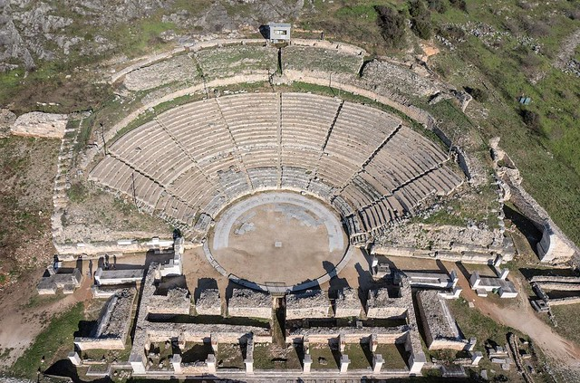 Theater at the Archaeological Site of Philippi - Photograph by Achilleas Savvopoulos