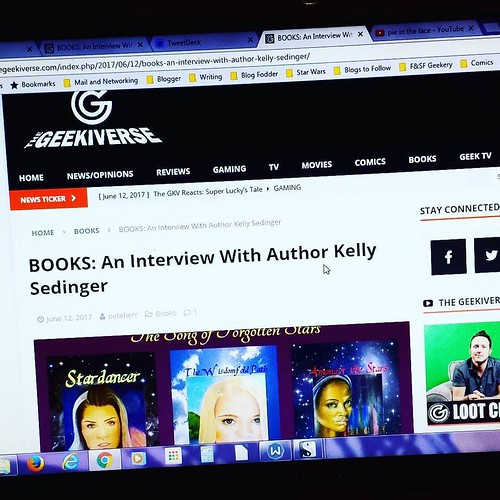 Did you read my interview at TheGeekiverse.com yet? No? Well GO, folks! 😆 #amwriting