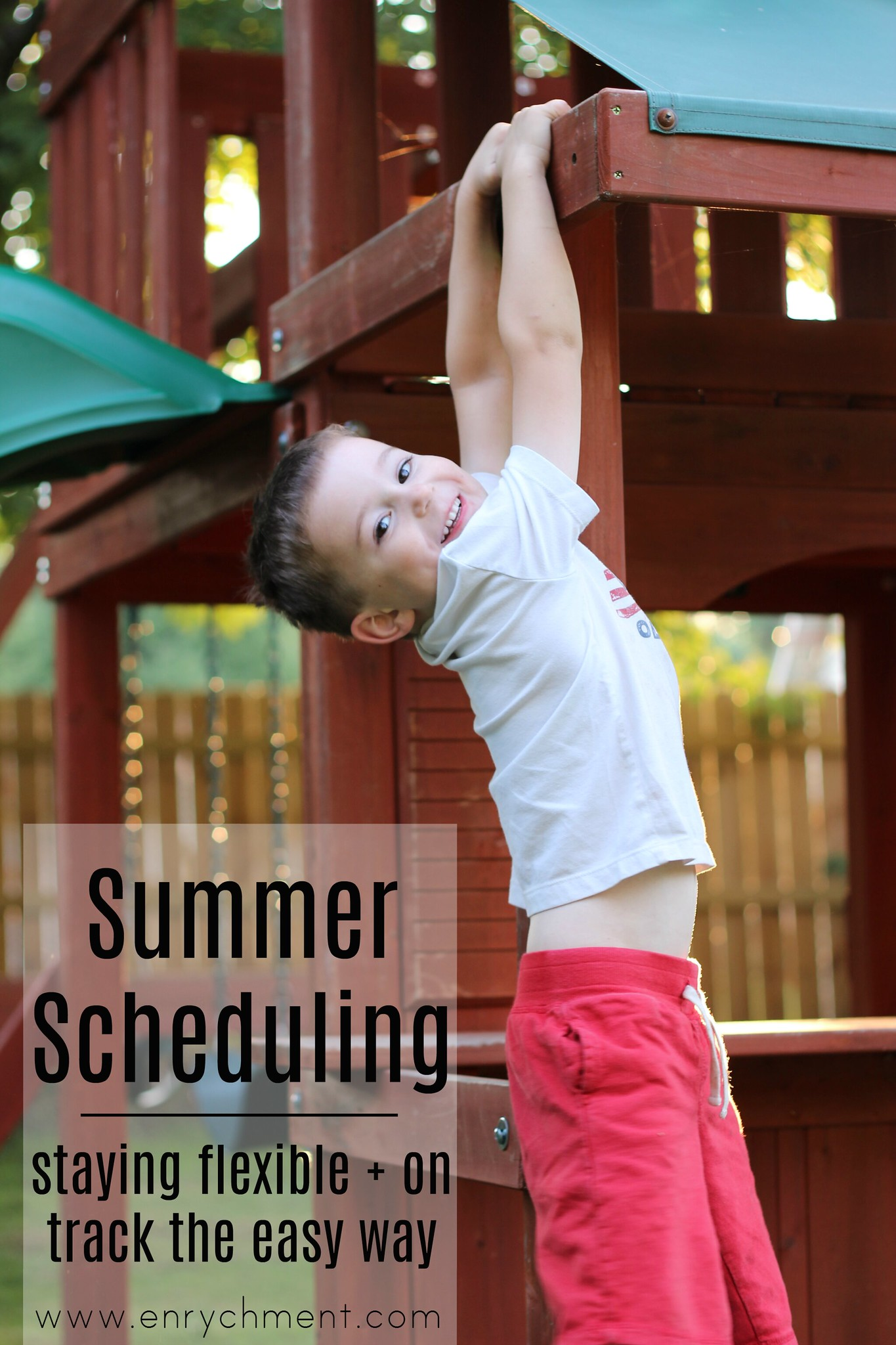 Making a flexible summer schedule to have a fun and productive summer