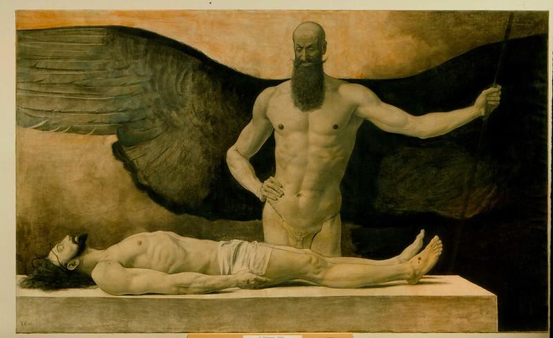 Sascha Schneider - Triumph of Darkness, 1896