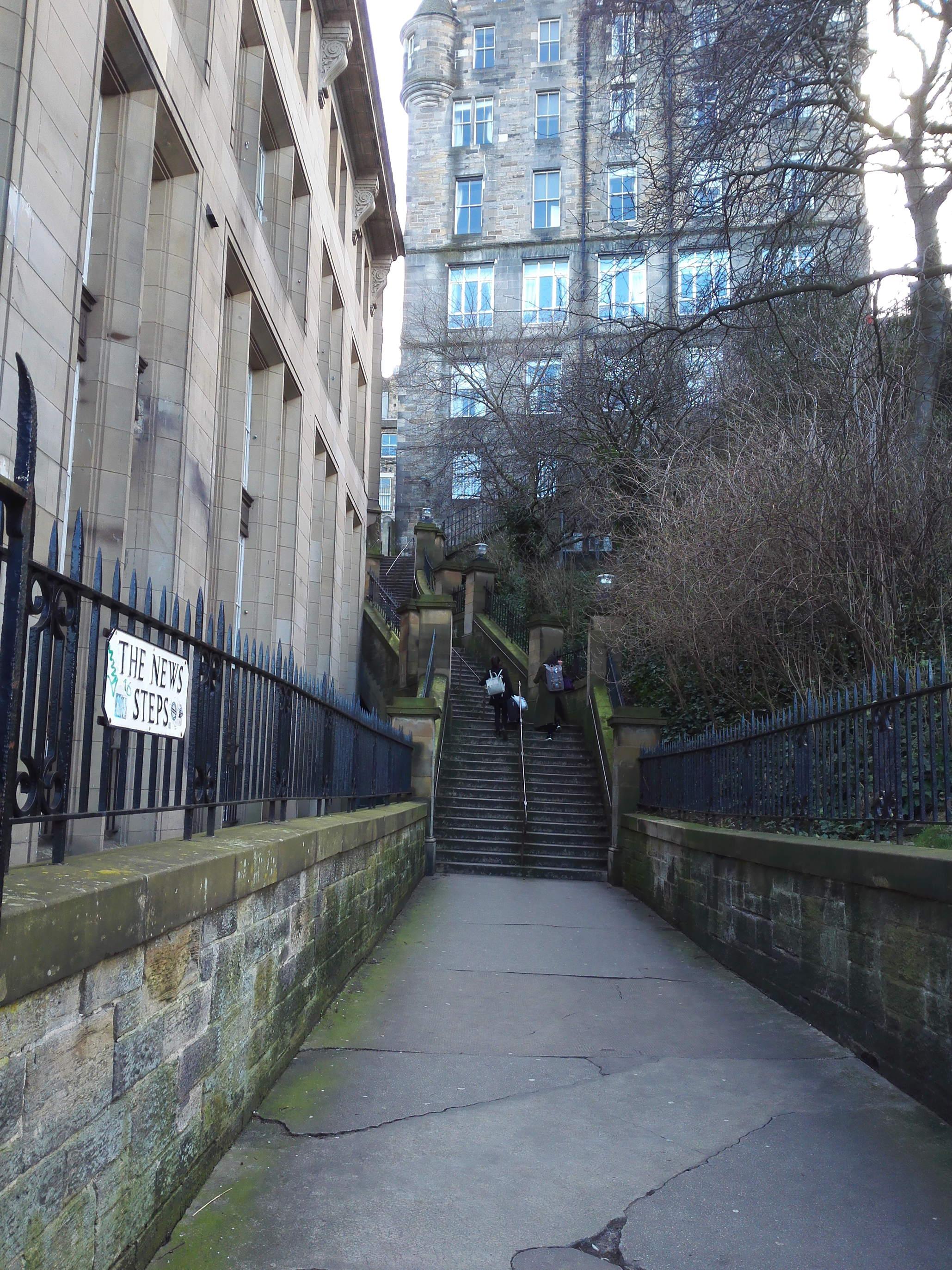 エジンバラの雰囲気有る階段