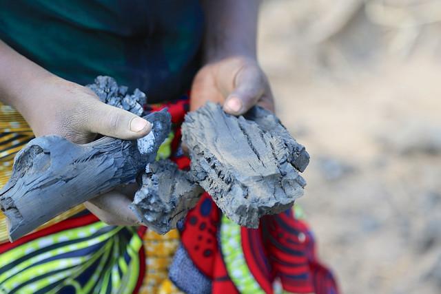 Making charcoal in Ghana