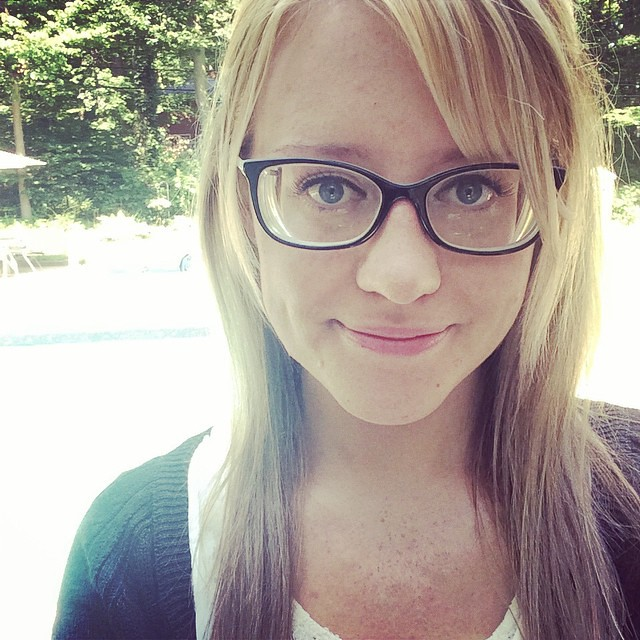 Thick Blonde With Glasses