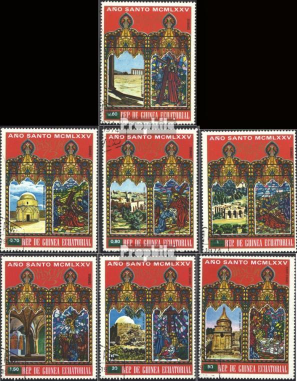 Známky Rovníková Guinea 1975 Veľká noc, razítkovaná séria