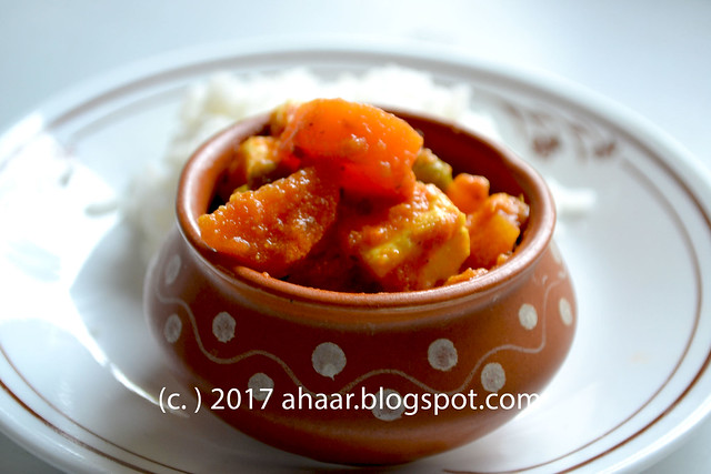 Vegetable and paneer curry