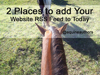 2 Places to add Your Website RSS Feed to Today @equineauthors