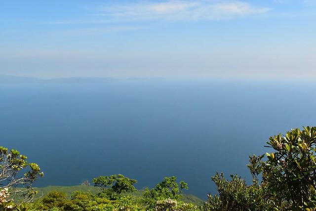 開聞岳展望台から眺める大海原