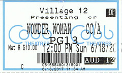 Wonder Woman ticketstub