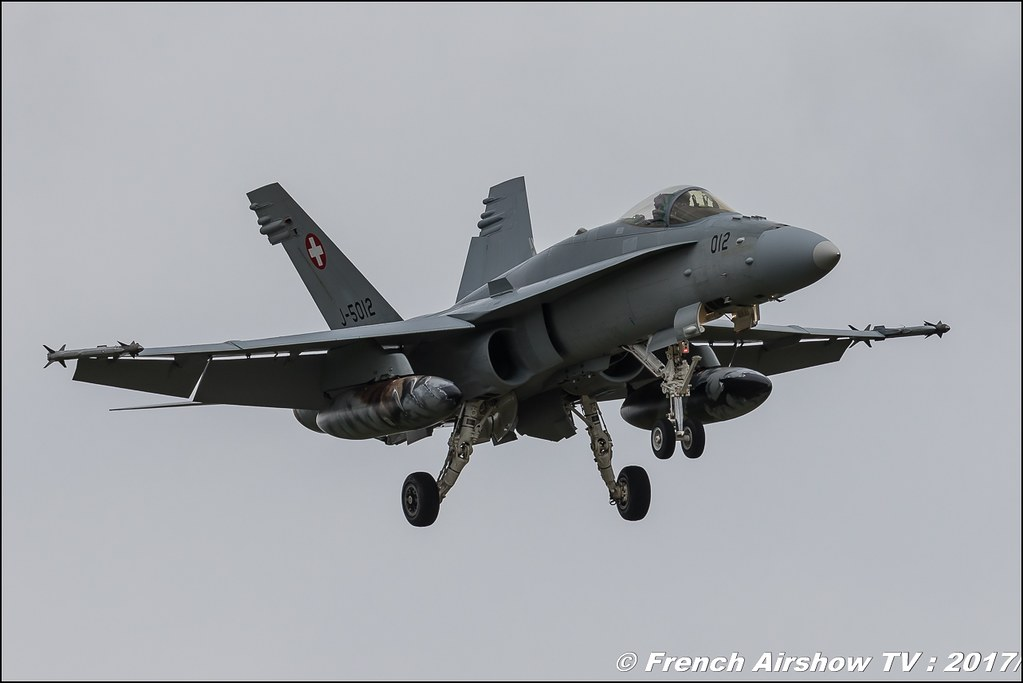 F/A-18C/D Hornet , Staffel 11 swiss , Nato Tiger Meet landivisiau 2017 , NTM2017 ,Spottersday Nato Tigers , Harde to be humble , bretagne
