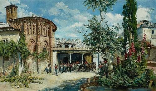 Ábside del Convento de Santa Fe pintado por Ulpiano Checa