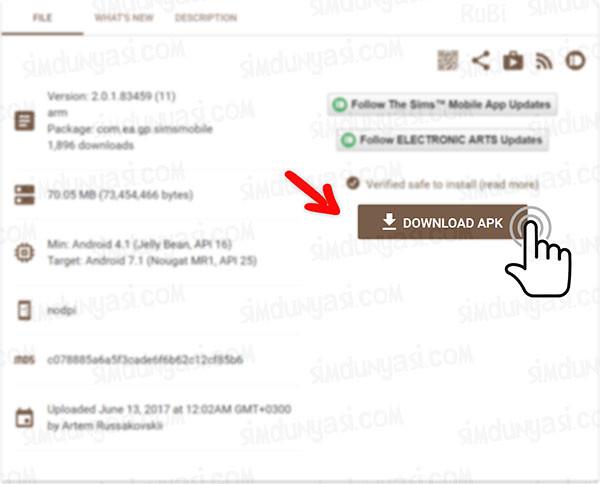 The Sims Mobile 2.0.1.83459 Güncellemesi [Erken Erişim / Early Access) Download APK