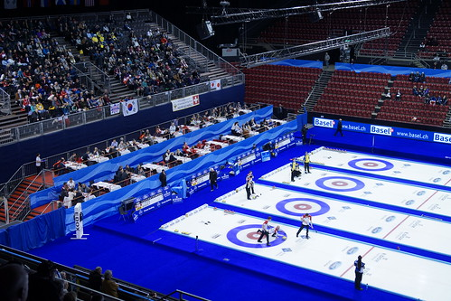 Curling WM at St. Jakobshalle (Basel/Switzerland) | by ISS - Ice, Sports & Solar