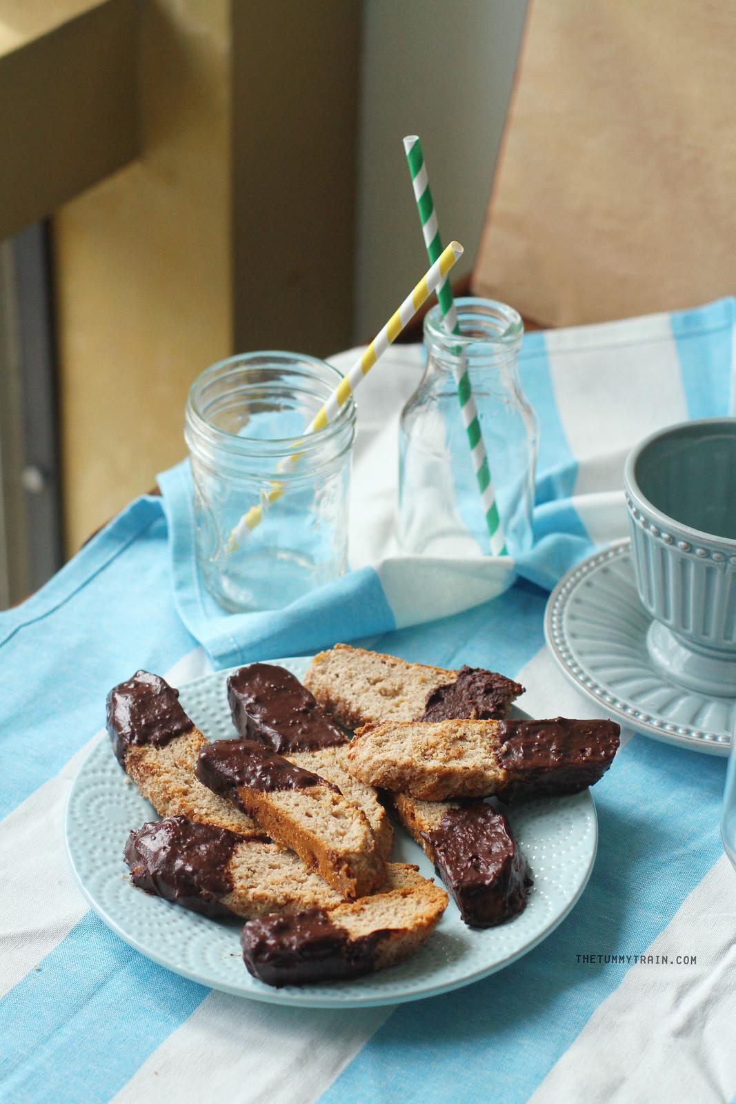 Banana Bread Biscotti with Chocolate Recipe