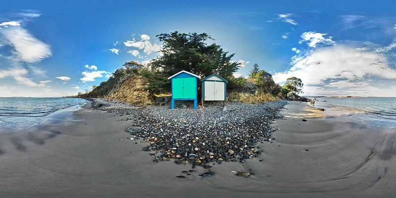 Beach Sheds, 360 VR Pano