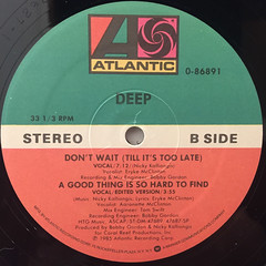 DEEP:DON'T WAIT(TILL IT'S TOO LATE)(LABEL SIDE-B)
