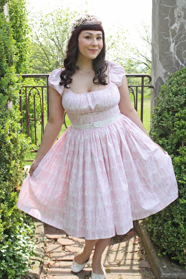 pastel pink vintage dress