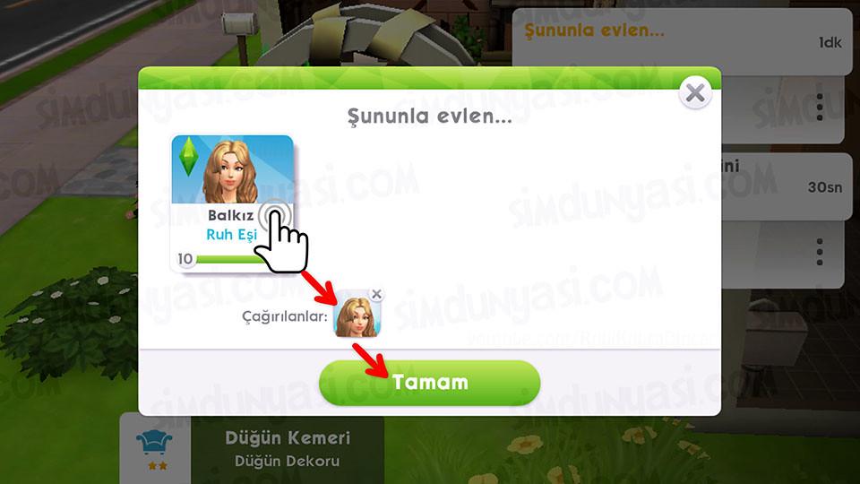 The Sims Mobile Evlenmek - Düğün Serüveni - Düğün Kemeri - Gelini Çağır