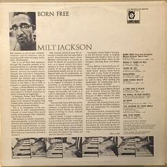 MILT JACKSON:BORN FREE(JACKET B)