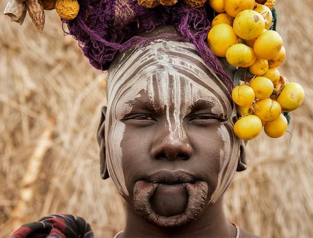 Mursi Woman Ethiopia Africa