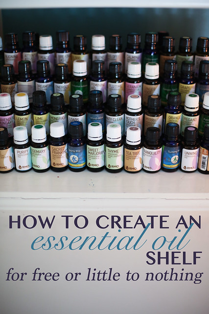 DIY Essential Oil Shelf that cost almost nothing to make, using things from your own home. So easy!
