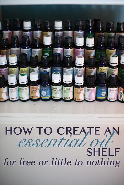 Diy Shelf Display For Essential Oils Drea Wood