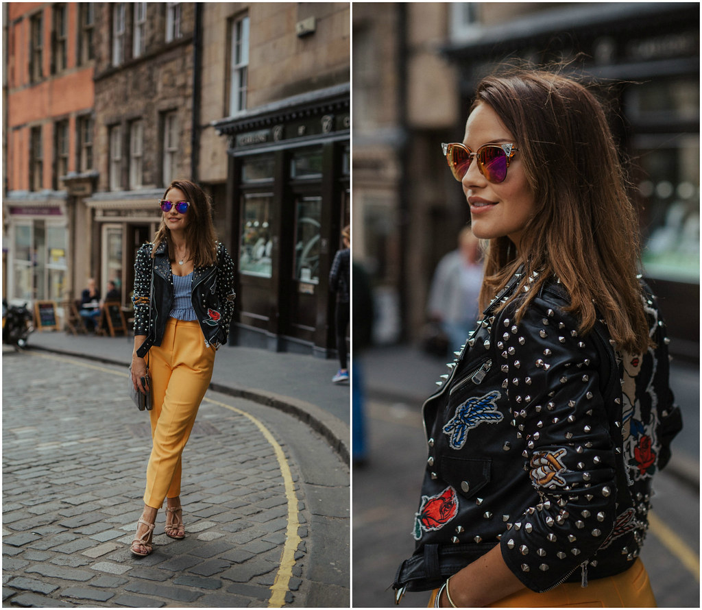 The Little Magpie Yellow Topshop Trousers 1