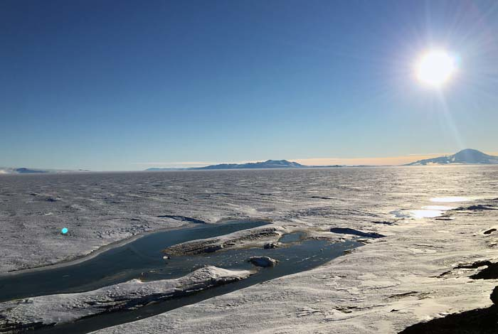 A DOE-funded measurement campaign called the ARM West Antarctic Radiation Experiment (AWARE) showed that that part of the Antarctic ice sheet more than twice the size of California melted in one summer.