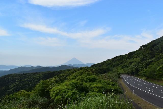 指宿スカイラインから見る開聞岳